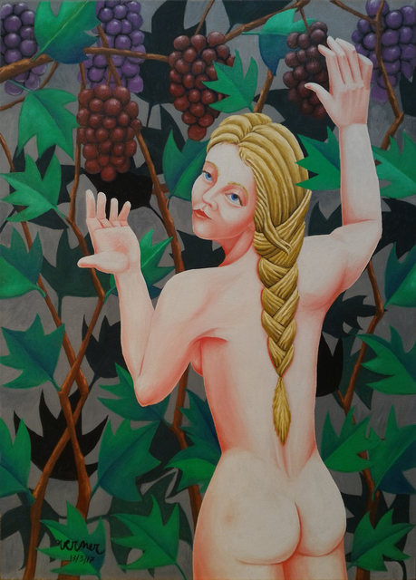 Joao Werner: nymph, 2017 Oil Painting