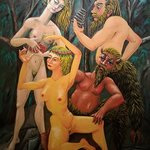 satyrs and nymphs By Joao Werner