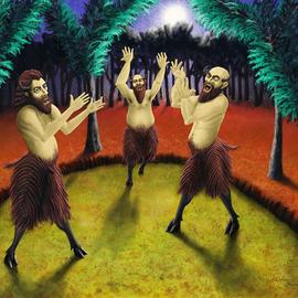 three satyrs singing
