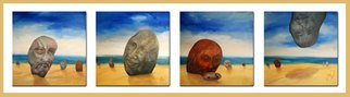 Alex Jobbagy: 'My beach', 2009 Oil Painting, Surrealism.  My beach is different from yours . . . ...