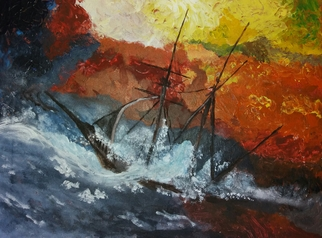 Joe Scotland Artwork absolute power, 2017 Acrylic Painting, Seascape