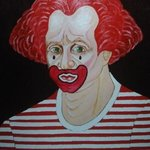 clown with stripes shirt By Fernando Javier  Cantera