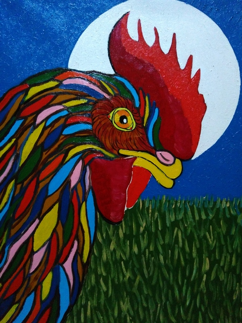 Fernando Javier  Cantera  'Holy Duty Rooster', created in 2017, Original Painting Oil.