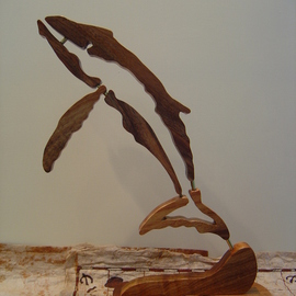 Joel P Heinz Sr.: 'Petroglyph Whale', 2007 Wood Sculpture, Culture. Artist Description:  Petroglyph whale is sculpted from solid Hawaiian Koa wood ...