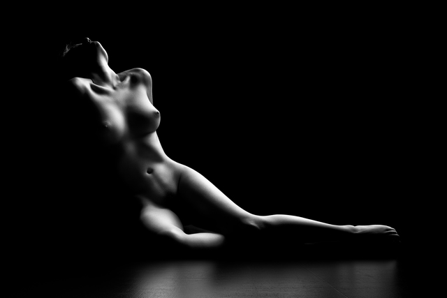 Johan Swanepoel  'Nude Woman Bodyscape', created in 2019, Original Photography Black and White.
