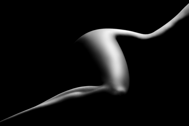 Artist Johan Swanepoel. 'Nude Woman Bodyscape 9' Artwork Image, Created in 2019, Original Photography Black and White. #art #artist