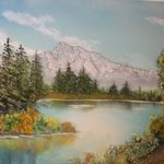 Mountain Lakeview By John Hughes