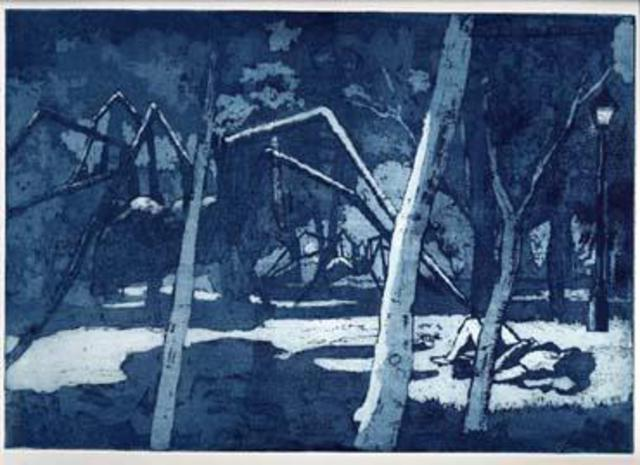John Booth  'Dream In The Woods', created in 2015, Original Printmaking Etching.