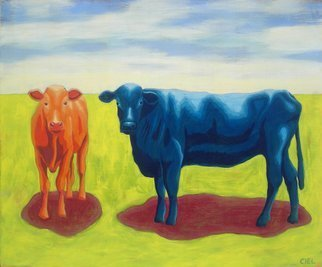 John Cielukowski: 'Cows Christmas FL', 2015 , Animals. Artist Description:  Cows enjoying their day in a beautiful, peaceful, colorful landscape. ...