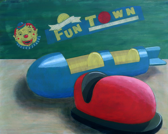John Cielukowski  'Funtown USA', created in 2017, Original Painting Acrylic.