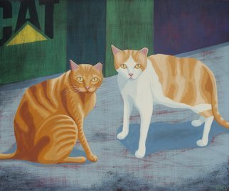 John Cielukowski: 'Trust No One', 2015 , Animals. Artist Description: Feral cats trying to survive on the street...