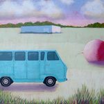blue ford van By John Cielukowski
