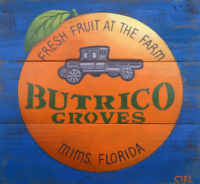 John Cielukowski  'Butrico Groves Mims Florida', created in 2020, Original Painting Acrylic.