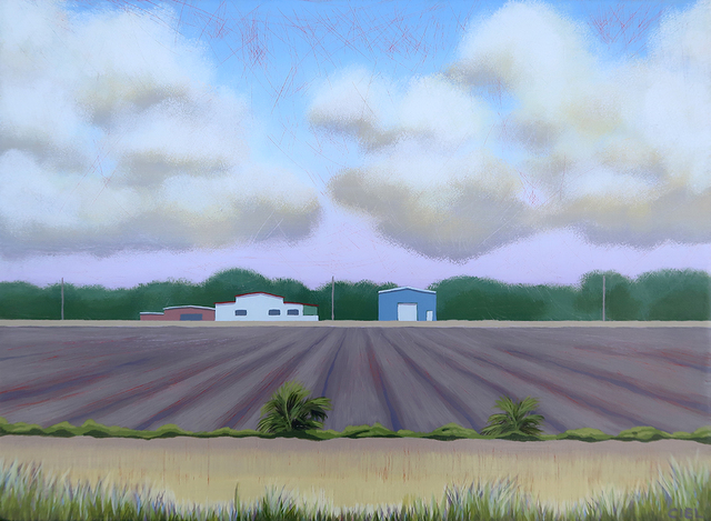 John Cielukowski  'Farm Mims Florida', created in 2019, Original Painting Acrylic.