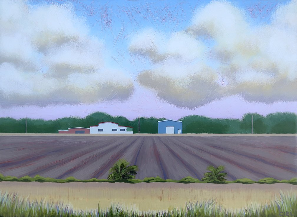 John Cielukowski: 'farm mims florida', 2019 Acrylic Painting, Landscape. Original acrylic painting on a reclaimed wood panel20x 24x 1. 5Finished edges.  Ready to hang. ...