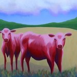 red cows By John Cielukowski