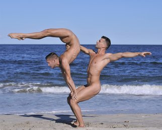 John Falocco: 'Body Sculpture on the Beach', 2016 Color Photograph, Nudes. Artist Description: Male Nude Photography ...