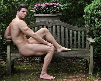 John Falocco: 'Garden Sculpure', 2016 Color Photograph, Nudes. Artist Description:  Male Nude Photography...