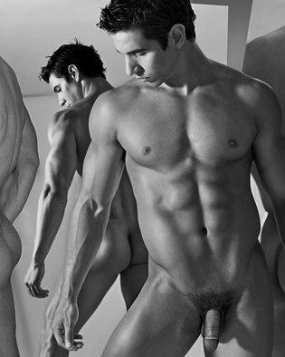 John Falocco: 'Mirror Images', 2010 Black and White Photograph, Nudes. Artist Description:   Male Nude Photography   ...
