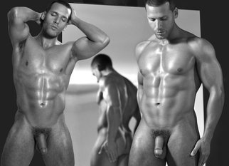 John Falocco: 'Mirror Reflections', 2012 Black and White Photograph, Nudes. Artist Description:     Male Nude Photography     ...