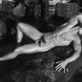 John Falocco Artwork On The Rocks, 2015 Black and White Photograph, Nudes