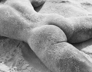 John Falocco Artwork Sand Sculpture, 2010 Black and White Photograph, Nudes