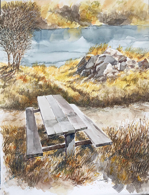 John Hopper  'Your Table Awaits', created in 2020, Original Reproduction.
