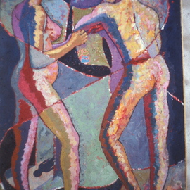 John Powell: 'Ballarena Dialogue', 2009 Oil Painting, Abstract Figurative. Artist Description:  From Dance series ...