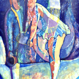 John Powell Artwork Ballerina at rest, 1991 Oil Painting, Dance