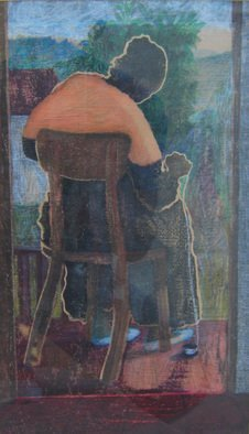 John Powell Artwork Lady Knitting Giclee, 2009 Giclee, Figurative