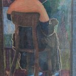 Lady Knitting Giclee, John Powell