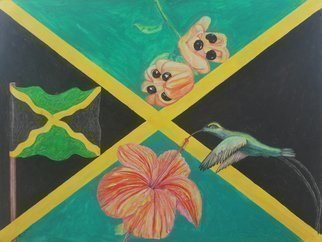 John Powell: 'National Pride', 2015 Acrylic Painting, nature.  From national Symbols of Jamaica series.  prints are available on my POD website
