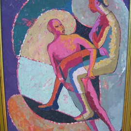 John Powell: 'Romance 4', 1991 Oil Painting, Abstract Figurative. Artist Description:  This painting is from