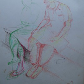 John Powell Artwork Romance in Reading, 1991 Other Drawing, Love