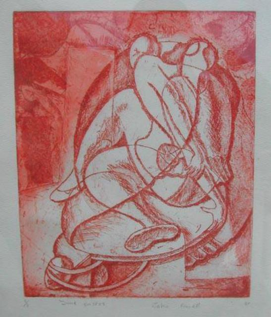 Artist John Powell. 'Time 2' Artwork Image, Created in 1990, Original Printmaking Lithography. #art #artist