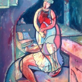 John Powell: 'Time Passes From Time Series', 1990 Oil Painting, Abstract Figurative. Artist Description:  This Painting is an extension from Time Series. ...