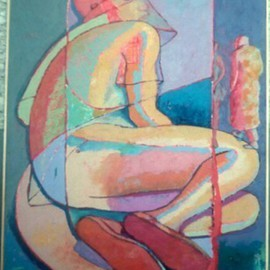 John Powell: 'Trapped in Time', 1990 Oil Painting, Abstract Figurative. Artist Description:  From Series