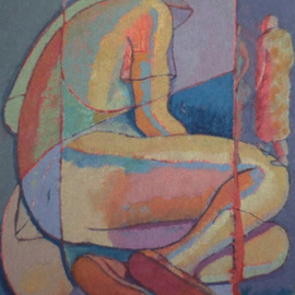 John Powell: 'Trapped in Time', 1992 Oil Painting, Figurative. Artist Description:                        From Wash series ;      From time series   From time series             ...