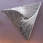 Aluminum Rotating Triangles By John Searles