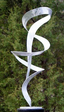 Aluminum Sculpture by John Searles titled: Ribbon Dancer 4, 2013
