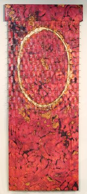 John Searles Artwork Tall Red Waterfall Weaving, Copper, 2013 Other Sculpture, Beauty