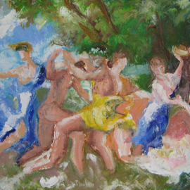 Playing with Poussin I, Bacchanal