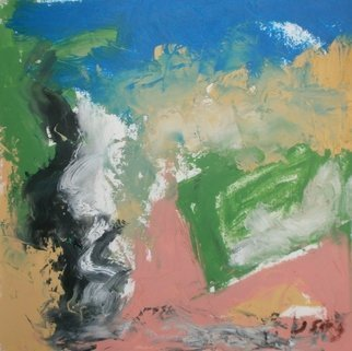 John Sims: 'after walking on the downs', 2017 Oil Painting, Abstract. Artist Description: Small oil on paper made after walking the dog on the downs near Chartham in Kent, UK in November...
