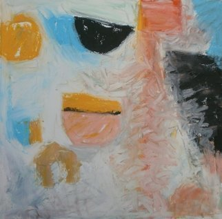 John Sims: 'much cooler now', 2017 Oil Painting, Abstract. Artist Description: Following a few hot weeks, the heat broke and I felt these colours. Small oil on paper...