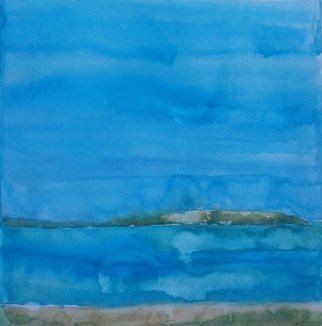 John Sims: 'very hot day whitstable', 2016 Watercolor, Seascape. After walking on West Beach in Whitstable, Kent UK. A very hot day. Watercolour on Paper. ...