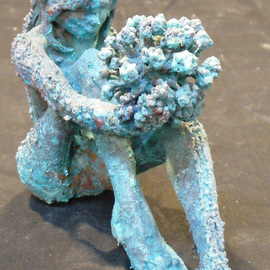 James Johnson: 'Fall', 2012 Bronze Sculpture, Figurative. Artist Description:   archetype, nude, male, beauty, dance, erotic, fantasy, figurative, mystical, meditation, mythology, new age, spiritual, nudes                      ...