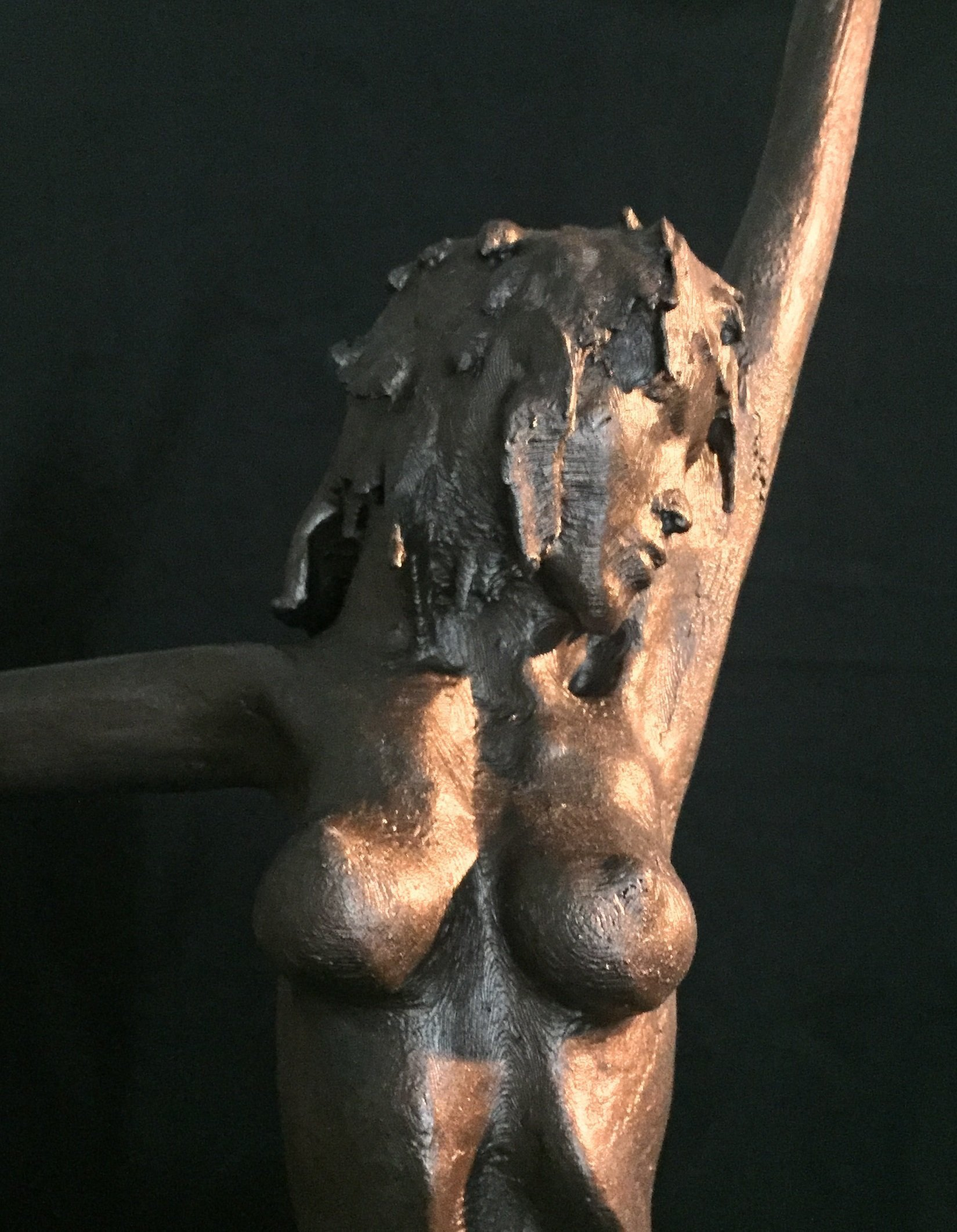 James Johnson: 'RAIN 2nd edition', 2020 Other Sculpture, Nudes. She was created using a cold cast method where bronze powder is incorporated into another media.  The patina is created using liver of sulfur.  Limited edition of 150 with an artistaEURtms mark, date, and number.  Each piece may appear slightly different with variations. ...