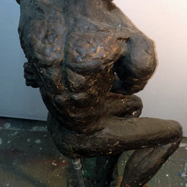 James Johnson: 'Rebel', 2013 Mixed Media Sculpture, Figurative. Artist Description:       archetype, nude, male, beauty, dance, erotic, fantasy, figurative, mystical, meditation, mythology, new age, spiritual, nudes                          ...
