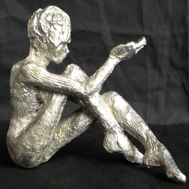 James Johnson Artwork Thought, 2013 Aluminum Sculpture, Figurative