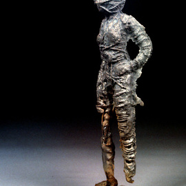James Johnson: 'bound', 2008 Steel Sculpture, Figurative. Artist Description: Bound by self limiting thought patterns bound to be liberated. ...